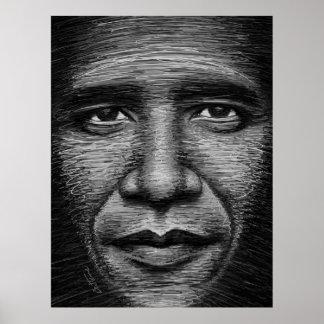 Barack Obama en algunas líneas Póster