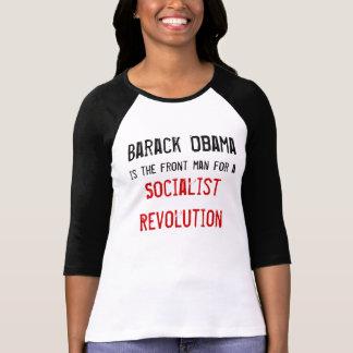 Barack Obama, es el líder para a, Socialis… Camisetas