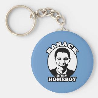 Barack Obama es mi homeboy Llavero Redondo Tipo Pin