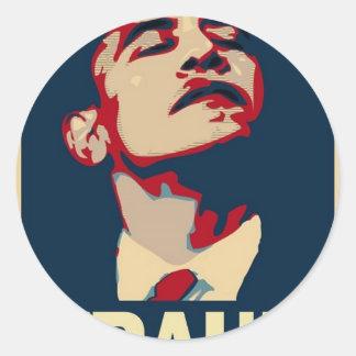 Barack Obama es un fraude Pegatina Redonda