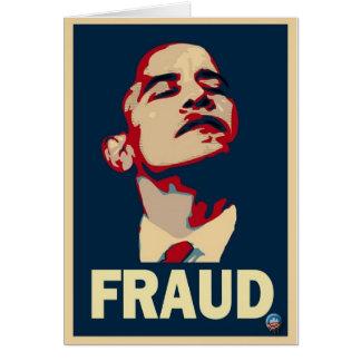 Barack Obama es un fraude Tarjeta