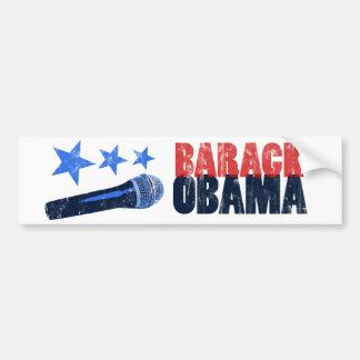 Barack Obama, estilo clásico Mic. Pegatina Para Auto