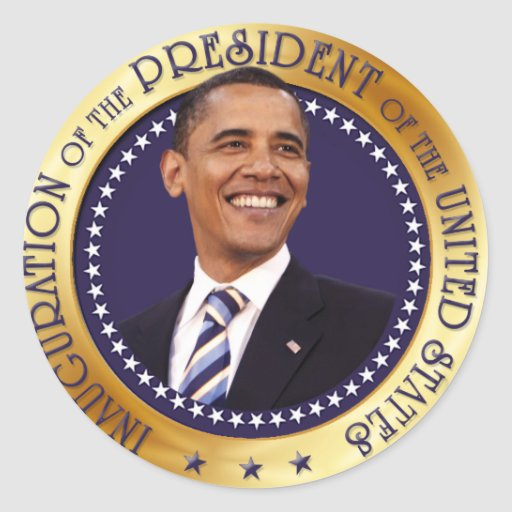 Barack Obama Etiqueta Redonda