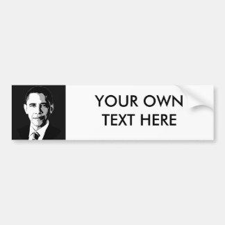Barack Obama Face Car Bumper Sticker