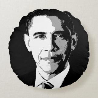 Barack Obama Face Round Pillow