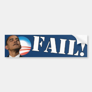 Barack Obama: FAIL Bumper Sticker