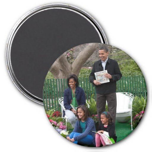 Barack Obama & Family Fridge Magnets