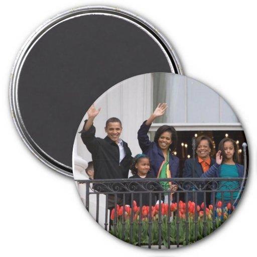 Barack Obama & Family Fridge Magnet