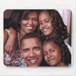 Barack Obama & Family_Mousepad Mouse Pads