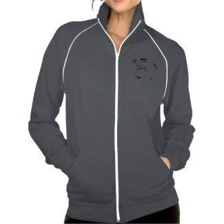 Barack Obama Fleece Track Jacket for Women