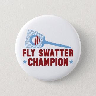 Barack Obama: Fly Swatter Champion Button