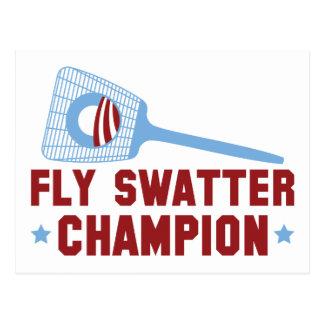 Barack Obama: Fly Swatter Champion Postcard