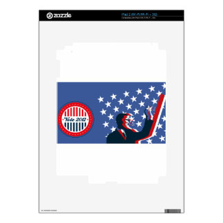Barack Obama for America 2012 Decal For The iPad 2
