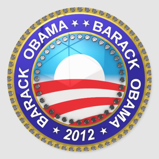 Barack Obama for president 2012 Classic Round Sticker