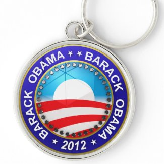 Barack Obama for president 2012 Keychains