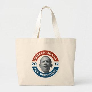 Barack Obama For President 2012 Large Tote Bag