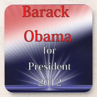Barack Obama For President Dulled Explosion Beverage Coaster