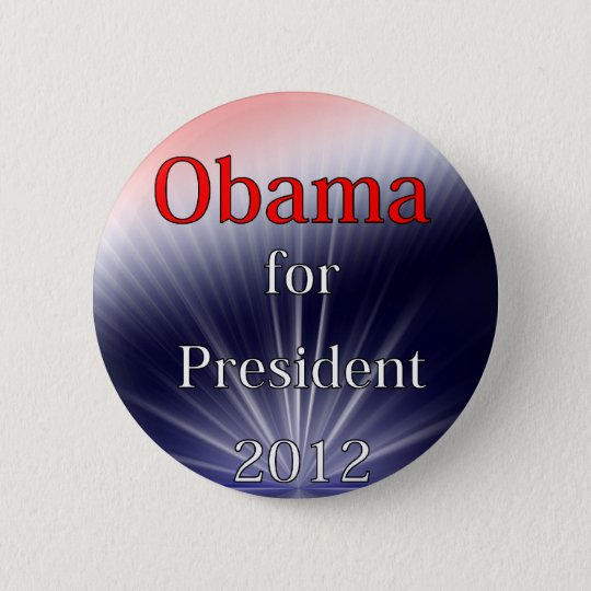 Barack Obama For President Dulled Explosion Button