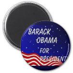 Barack Obama For President Night Sky Magnet
