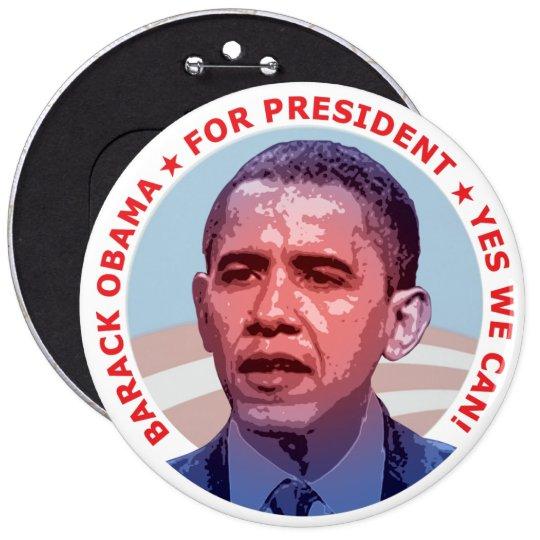 Barack Obama for President Pinback Button