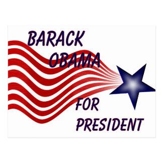 Barack Obama For President Shooting Star Postcard