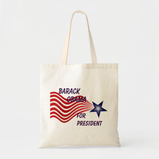 Barack Obama For President Shooting Star Tote Bag