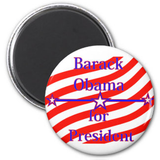 Barack Obama For President Strips With 3 Stars And Refrigerator Magnet