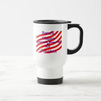 Barack Obama For President Strips With 3 Stars And Travel Mug