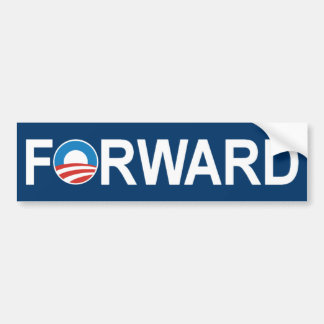 Barack Obama 'Forward' Bumper Sticker Car Bumper Sticker