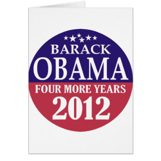 Barack Obama - Four More Years - 2012 Card