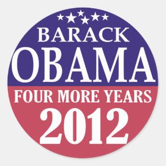Barack Obama - Four More Years - 2012 Round Sticker