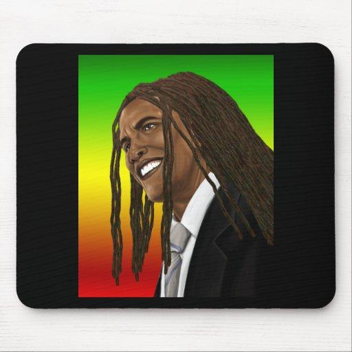 Barack Obama Goes Rasta Reggae style Mouse Pads