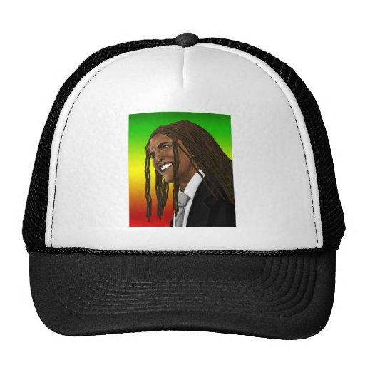 Barack Obama Goes Rasta Reggae style Trucker Hat