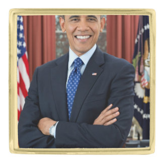 Barack Obama Gold Finish Lapel Pin