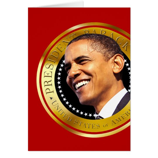 Barack Obama Gold Seal Card
