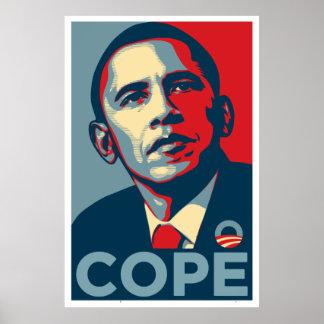 """Barack Obama """"hace frente"""" poster"""