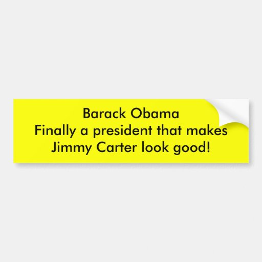 Barack Obama hace Jimmy Carter mirada buena Pegatina Para Auto