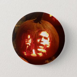 Barack Obama Halloween Carved Pumpkin Pin