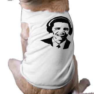 BARACK OBAMA HEADPHONES -.png Doggie T Shirt