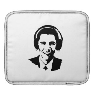 BARACK OBAMA HEADPHONES -.png Sleeves For iPads