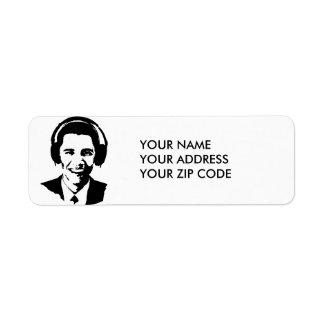 BARACK OBAMA HEADPHONES -.png Return Address Label