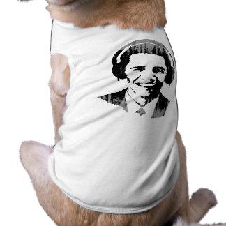 Barack Obama headphones Vintage.png Pet Tee Shirt