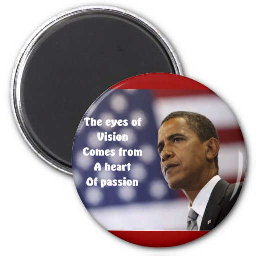 Barack Obama heart of passion 2 Inch Round Magnet