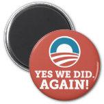 Barack Obama hicimos sí otra vez (el rojo) Iman De Frigorífico