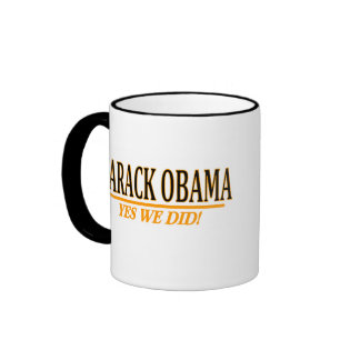 ¡Barack Obama - hicimos sí! Tazas De Café