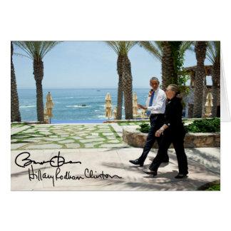 Barack Obama & Hillary Clinton Cards