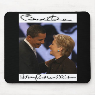 BARACK OBAMA  HILLARY CLINTON's SIGNATURES Mouse Pad