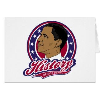 Barack Obama History Card
