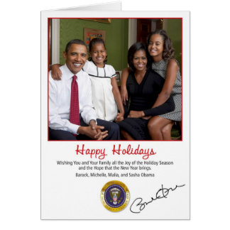 Barack Obama Holiday Card 2010