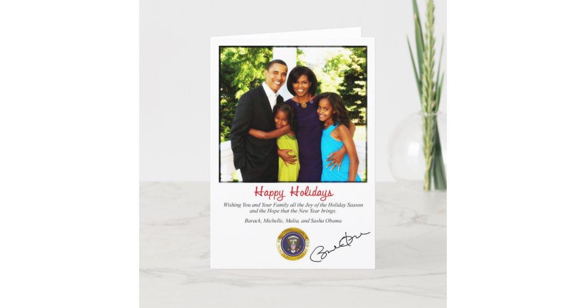 Barack Obama Holiday Christmas Card | Zazzle.com